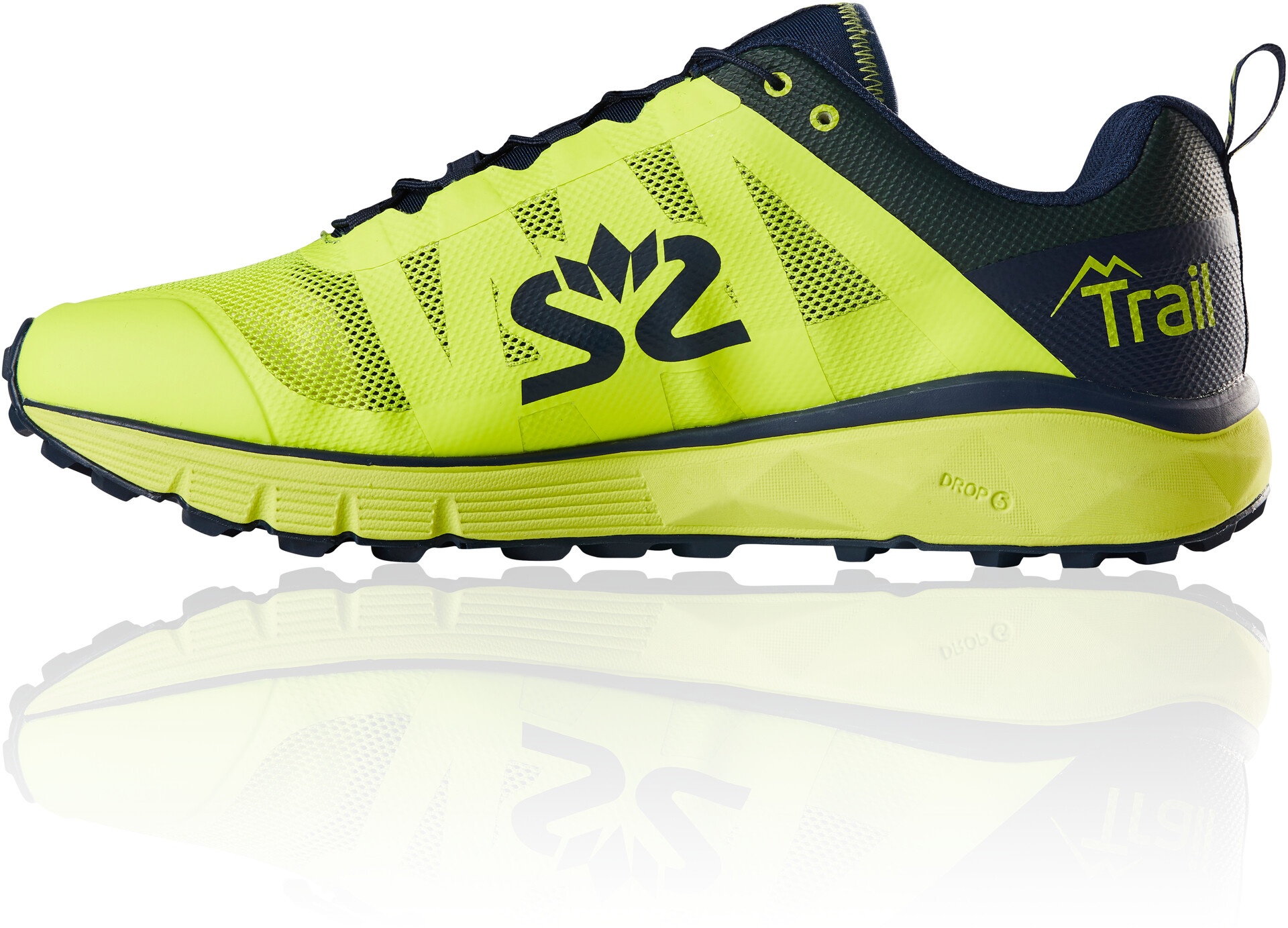 Salming Trail 6 Scarpe Uomo, safety yellow/navy blue su Addnature 1vcAF